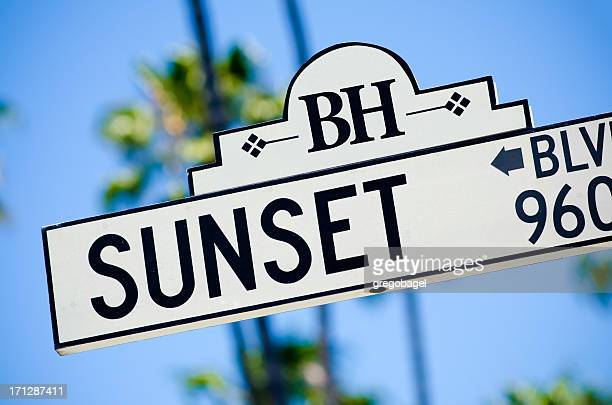 Sunset Boulevard sign in Beverly Hills, CA