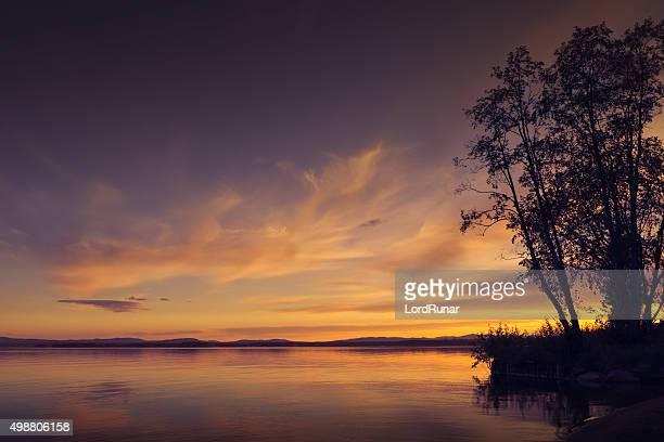 Sunset by a lake