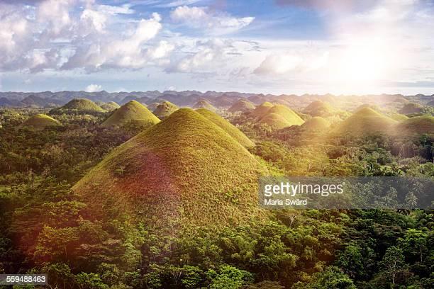 Sunset Chocolate Hills, Philippines
