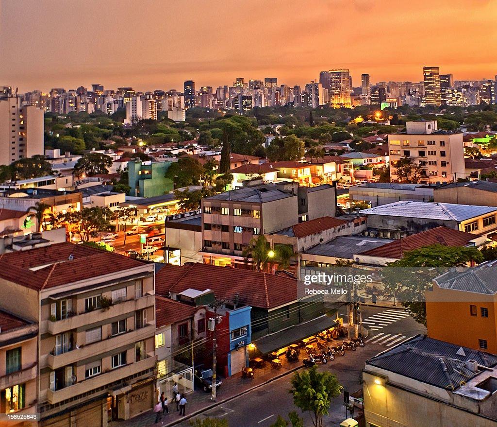 Sunset cityscape : Stock Photo