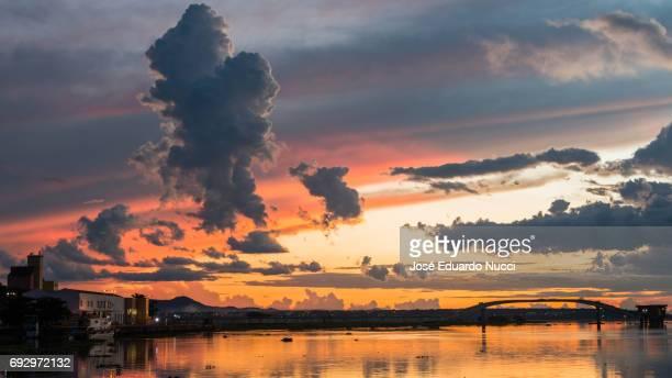 Sunset Corumbá city
