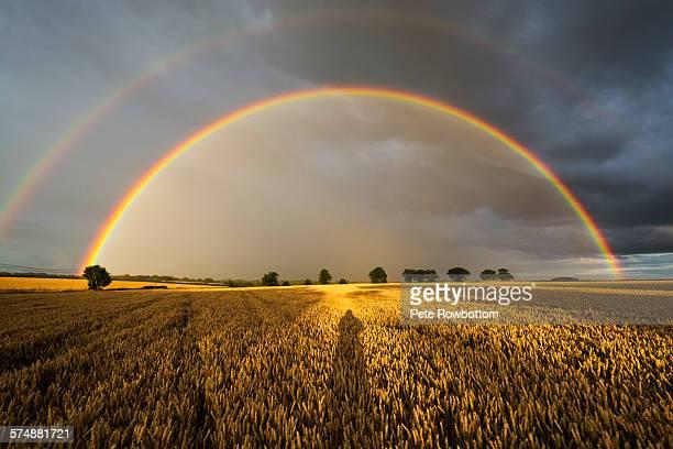 Sunset double rainbow