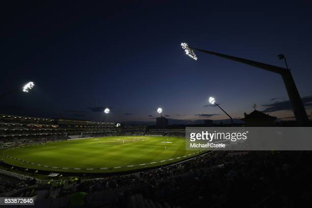 Sunset during day one of the 1st Investec Test match between England and West Indies at Edgbaston on August 17 2017 in Birmingham England