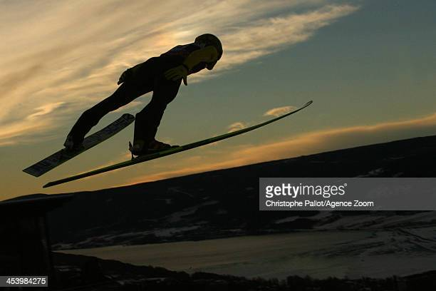 Sunset during the FIS Ski Jumping World Cup Mixed Team HS100 on December 06 2013 in Lillehammer Norway