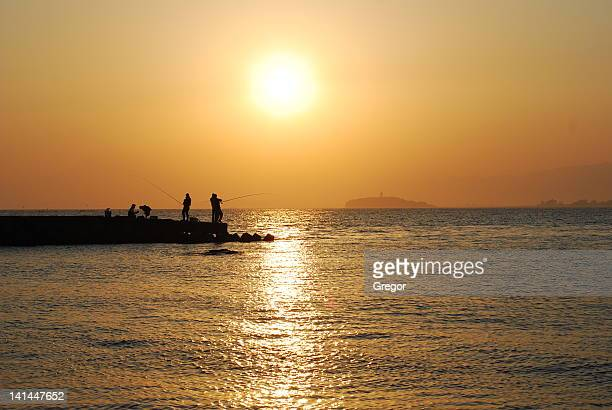 Sunset fishing at Morito beach
