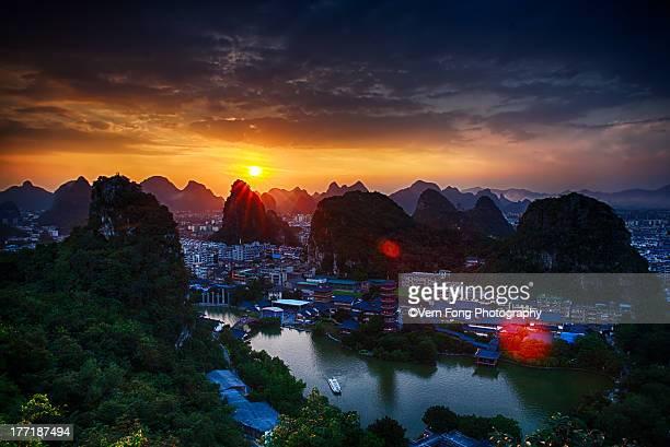 Sunset from Diecai Mountain