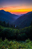 Sunset from the Morton Overlook in the Great Smoky Mountain National Park.