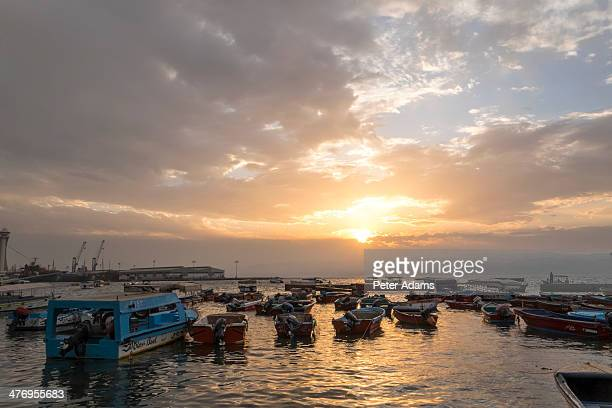 Sunset harbour, Aqaba, Jordan