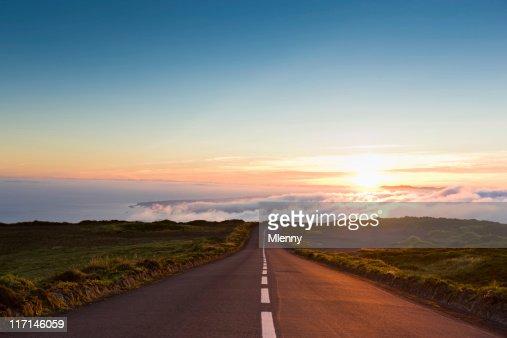 Tramonto verso il cloud : Stock Photo