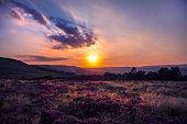 Sunset Ilkley Moor