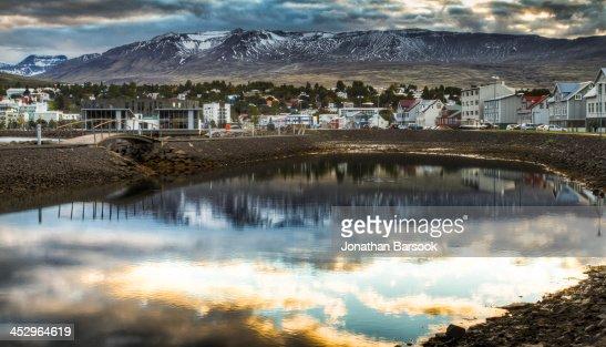 Sunset in Akureyri