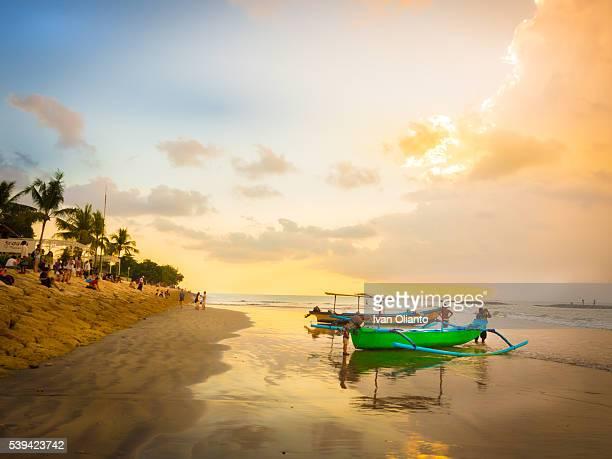 Sunset in Bali Beach, Indonesia