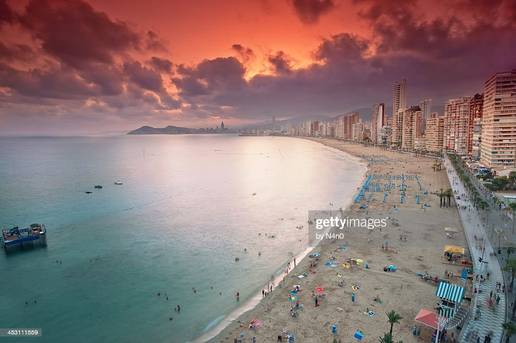 Sunset in Benidorm