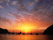 Sunset in Beniras beach, Ibiza, Balearic Islands, Spain