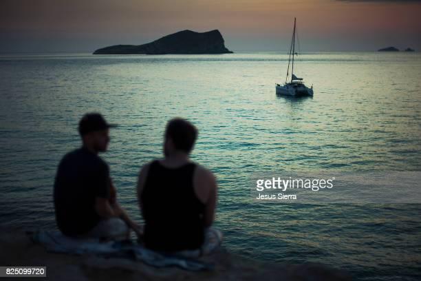 Sunset in Cala Comte , Ibiza, Spain.