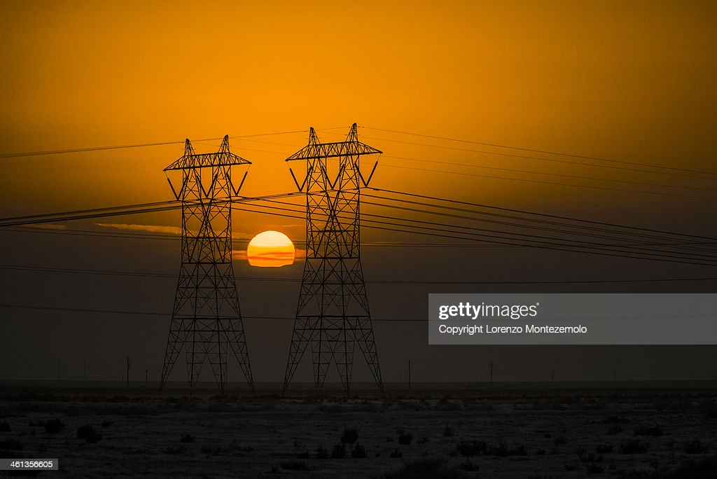 Sunset in california's central valley