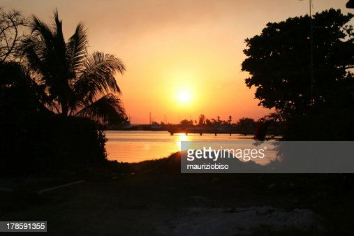 Sunset in Cienfuegos : Stock Photo