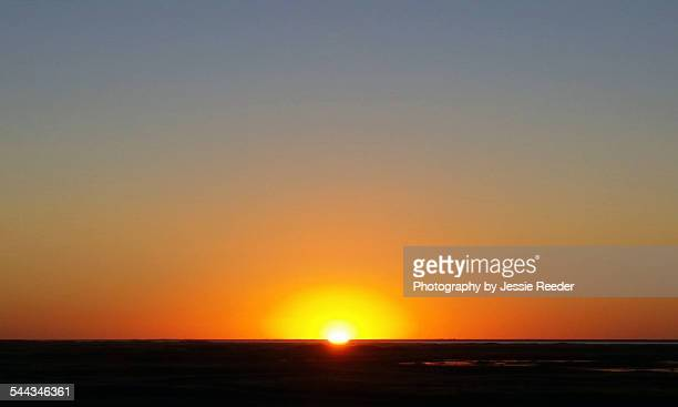 Sunset in cloudless sky