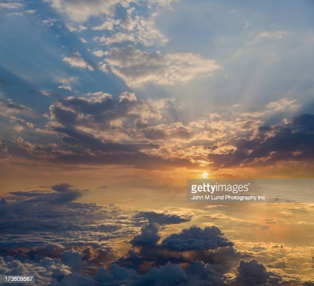 Sunset in dramatic clouds