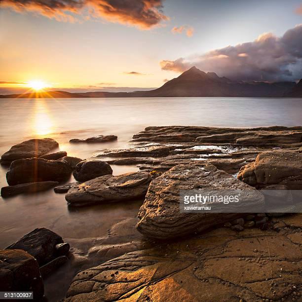 Sonnenuntergang in Elgol bay