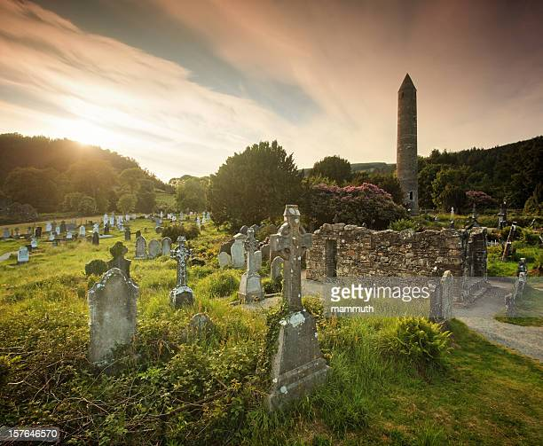 Sunset in Glendalough