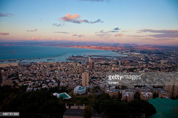 Sunset in Haifa, Israel.