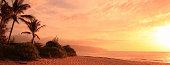 Sunset in Hawaii Islands