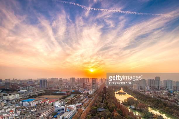 Sunset in Hefei