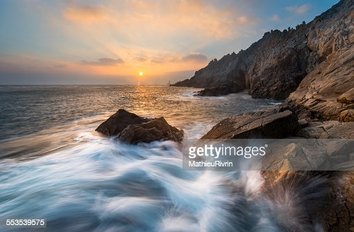 Sunset in La Pointe du Raz : Stock Photo