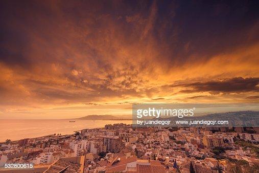 Sunset in Malaga