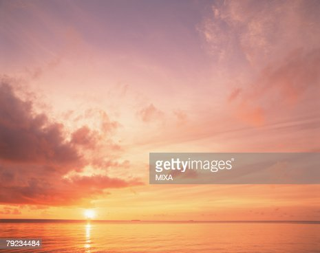 Sunset in Maldives : Stock Photo