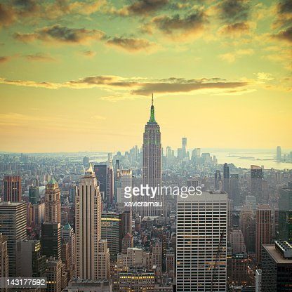 Sunset in Manhattan : Stock Photo