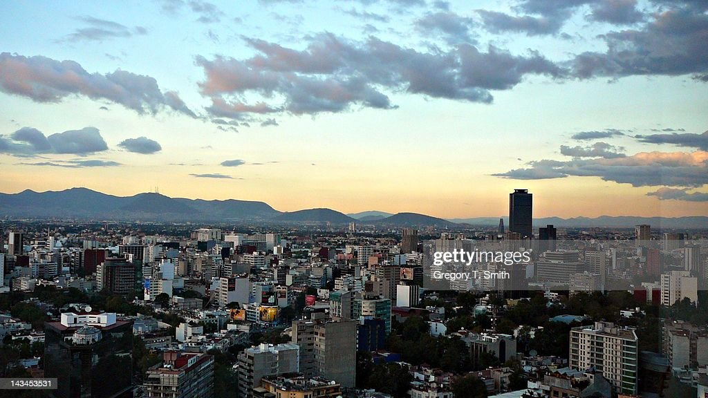 Sunset in Mexico city : Stock Photo