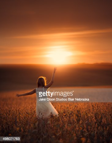 Sunset in Nebraska : Stock Photo