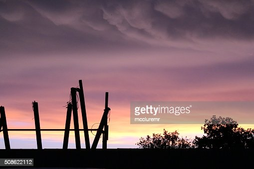 Sunset in Port Neches : Stock Photo