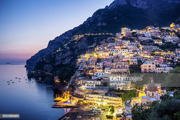 Sunset in Positano on Italy's Amalfi Coast
