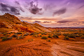 Sunset in Red Rock Canyon National Conservation Area, Nevada.