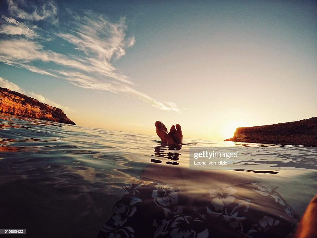Sunset in relax : Stock Photo