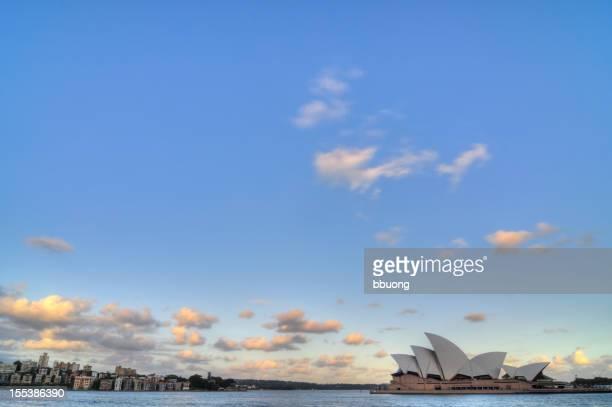 Sunset in Sydney Harbour (Australia)
