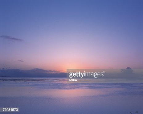 Sunset in Tahiti : Stock Photo