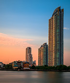 Sunset in thailand city