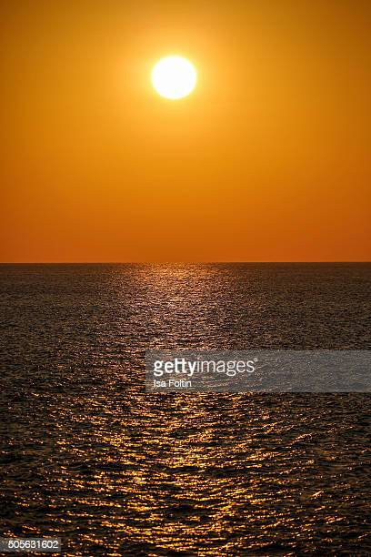 Sunset in the Adaman sea on January 04 2015 in Similan Islands Thailand