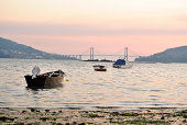 Sunset in the estuary of Vigo