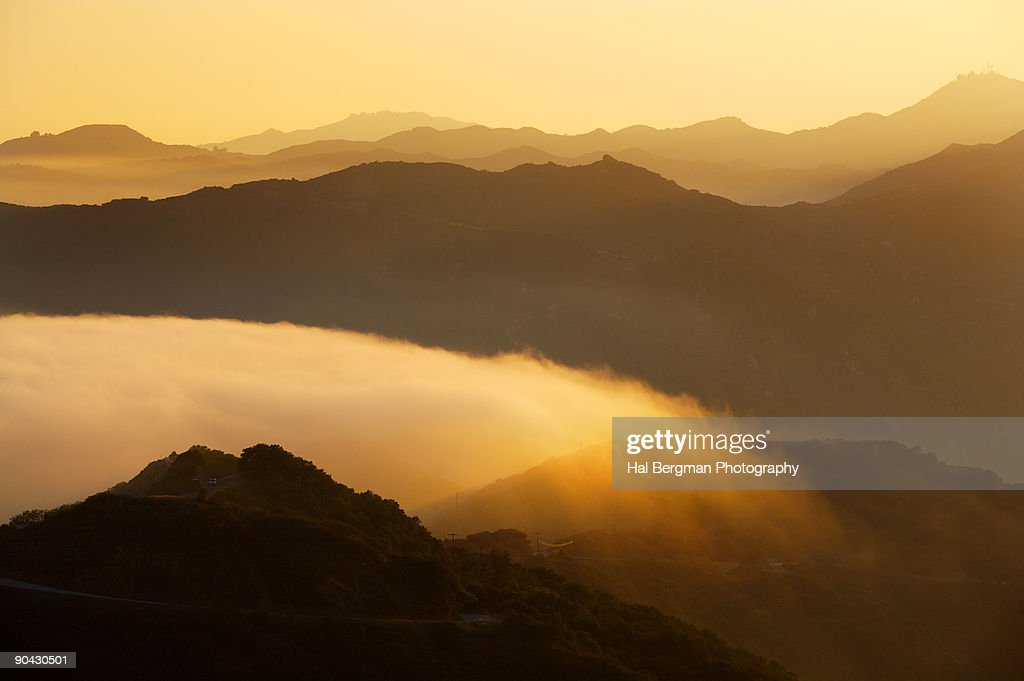 Sunset in the Santa Monica Mountains
