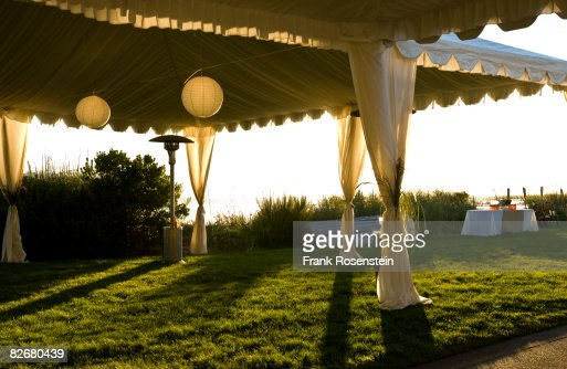 sunset in the tent : Foto de stock