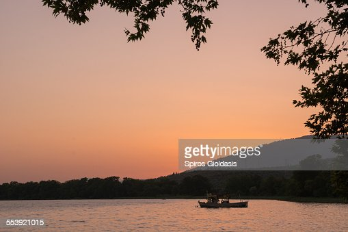 Sunset in Trichonida : Stock Photo