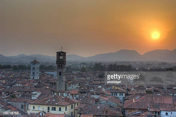 Toscana, tramonto in hdr image
