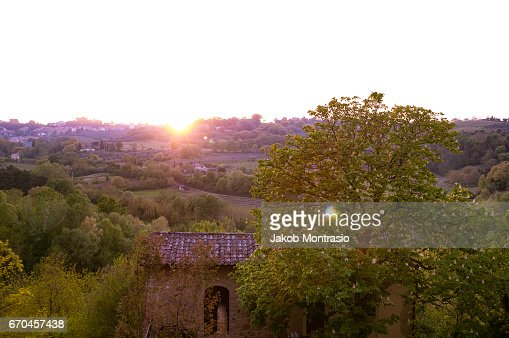 Sunset in Tuscany : Stock-Foto