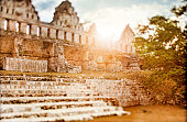 Ancient mayan ruins in Uxmal, Mexico