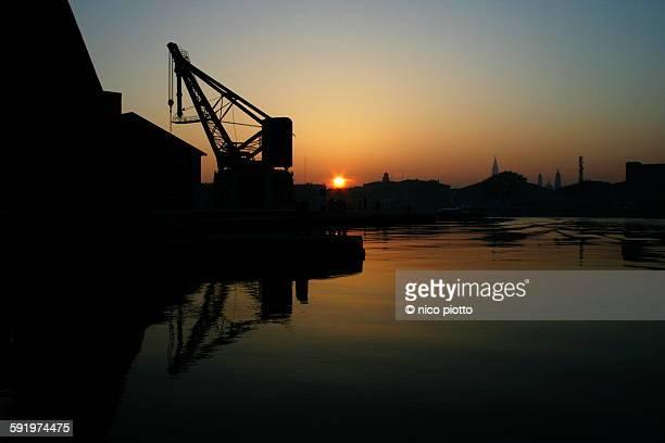 Sunset in Venetian Arsenal